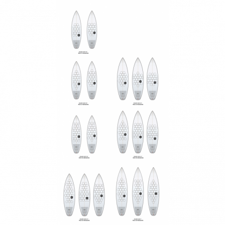 WAAL SURF GRIP 3.0 SHORTBOARD PACK 25 - 5' TO 6' (CHUBBY BOARDS)
